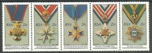 Südafrika - Nationale Orden Fünferstreifen postfrisch 1990 Mi. 808-812