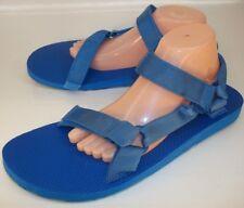 TEVA Original Universal Marbled Mens US13 Blue Ankle Strap Sandals New 1185