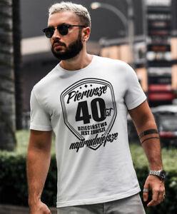 PIERWSZE 30, 40, 50, 60LAT JEST NAJTRUDNIEJSZE Koszulka Polska Urodziny Koszulki