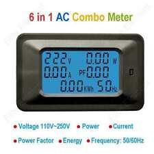 Multimeter AC 110V 220V 100A Voltage Volt AMP Current Meter Panel Power Energy
