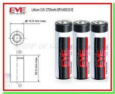 3 Batterie Pile EVE 14505 14500 3,6V Li-SoCl2 STILO AA 2700mAh STD Gps Laser