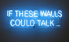 "14""x7""IF THESE WALLS COULD TALK Neon Sign Light Beer Bar Party Visual Artwork"