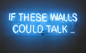 """14""""x9""""IF THESE WALLS COULD TALK Neon Sign Light Party Studio Decor Real Glass"""