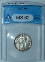 1930 P ANACS MS62 Standing Liberty Quarter
