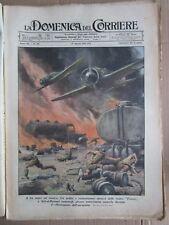 *DOMENICA DEL CORRIERE 10- 08 -1941 ATTACCO A SIDI EL BARRANI -FOTO B. MUSSOLINI
