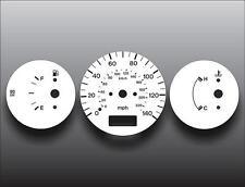 1997-1998 Mazda Protege Non-Tach Dash Instrument Cluster White Face Gauges