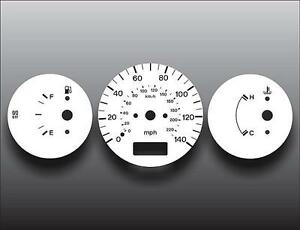 1997-1998 Mazda Protege Non-Tach Dash Instrument Cluster White Face Gauges