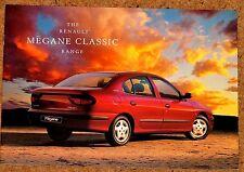 1998 RENAULT Megane Classico Berlina brochure di vendita-Menta Brand New Old Stock!