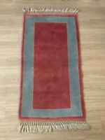 "Turkish Oushak Wool Area Rug, Vintage Hand Knotted, 4'5""x 2'4"", FREE SHIPPING!"