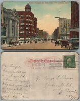 OMAHA NE FARNAM STREET 1913 ANTIQUE POSTCARD