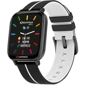 Smartwatch SUPERGA SW-STC002 Silicone Nero Bianco TOUCHSCREEN NEW