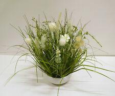 Blumengesteck Gesteck Tischgesteck Kunstblumen weiß creme 50 cm 57092-2 F58