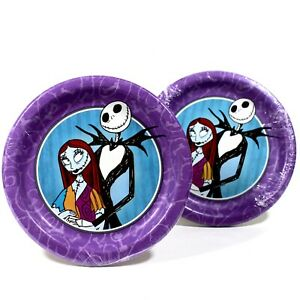 Nightmare Before Christmas Party Plates 16pcs Halloween Jack and Sally 6 7/8in
