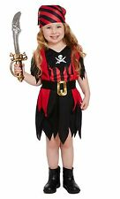 TODDLER PIRATE GIRL COSTUME FANCY DRESS PARTY WORLD BOOK DAY WEEK HALLOWEEN 2-4