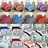 New Duvet Cover with Pillow Case Quilt Cover Bedding Set Single Double King Gift