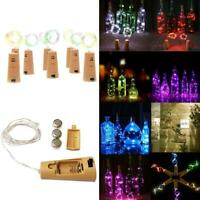 Bottle Fairy String Lights Battery Cork Shaped Christmas Wedding Party 20/50 LED