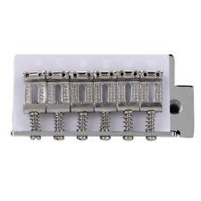 Für Original Fender Strat 6 SAITEN CHROM Gitarre Tremolo Brücke mit Bar Silber