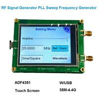 ADF4351 35M-4.4G RF Signal Generator Sweep Board Frequency Generator USB Touch