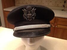 Military Hat Berkshire Deluxe Air Force Visor Officer Worn 7 1/4 United States