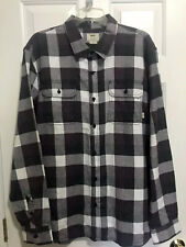 Vans NWT Almeda Flannel Plaid Button Up Shirt MSRP $49.50