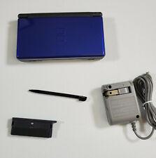 NINTENDO DS LITE USG-001 BLUE (Cobalt) BLACK; TESTED; USG 001 NDS