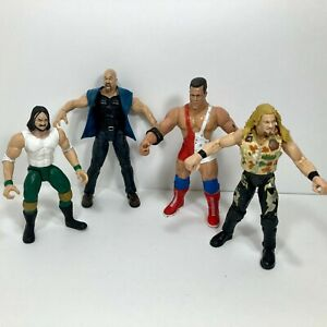 WWF Jakks Action Figure Lot of 4 Chris Jericho Kurt Angle DX Stone Cold Steve A