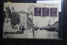 Memel 3x 48 auf Postkarte als Mehrfachfrankatur AK An der Börse #BA740