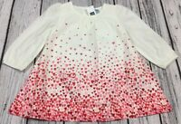 Baby Gap Girls 12-18 Months Lightweight Red Pink Heart Dress With Bloomers. Nwt