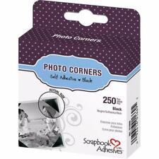 Self-Adhesive 250 Polypropylene Photo Corners Wedding Albums Card 10mm Black