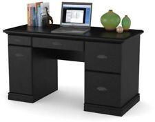 Computer Desk Workstation BLACK Modern Executive Wood Furniture Office Home New