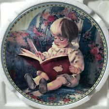 """Knowles Collector Plate """"My First Book"""" Yesterdays Innocents #2877A Coa"""