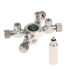 4 Way CO2 Distributor Splitter Needle Valve Solenoid Regulator for Aquarium