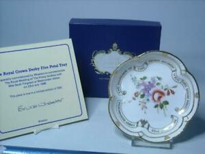 1986 Royal Crown Derby WEDDING OF PRINCE ANDREW SARAH FERGUSON Five Petal Dish