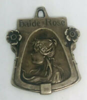 Beautiful Art Nouveau Jugendstil Haide Rose Pendant 800 Silver Vintage Jewelry