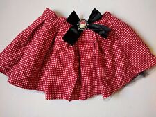 Disney Parks NWT Girls M Skirt Minnie Mouse Cameo Polka Dot Poofy Tulle Underlay
