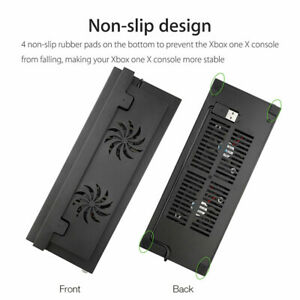 USB Cooling Fan External USB Cooler Stand for Xbox One S Controller Black