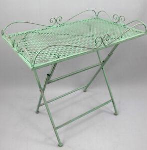 Tavolino IN Metallo Tavolino per Fiori IN Stile Antico 36x60, 60cm Alto (g2)