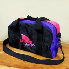 ac2befdf3afd84 Color: White. Vintage Shark Freestyle Duffle Bag 90s Neon Nylon Travel Gym  Shoulder Tote Kids