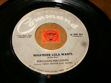 TERRY SNYDER - WHATEVER LOLA WANTS - MY HEART BELONG TO  / LISTEN - JAZZ POPCORN