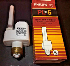 Philips PL*5 Bulb and Adapter PL-S Bulb 5w/27