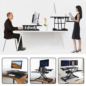 Sitz Steh Schreibtisch Höhenverstellbarer Sit-Stand Workstation Aufsatz