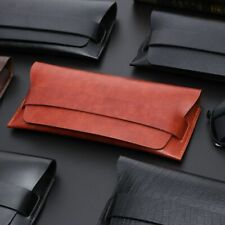 Fashionable Eyeglasses Soft Cases Stylish Leather Eye Wear Accessories Protector