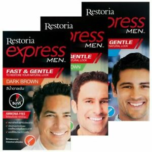 Restoria Express For Men Restoring Dye For Cover Grey Hair Color Shade Cream