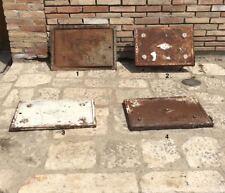 Antico sportello anta in ferro e ghisa per contatore acqua acquedotto gas EAAP