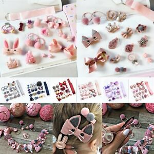 18 Pcs Children Cute Hair Accessories Set Baby Bow Flower Hair clips Girls Gift