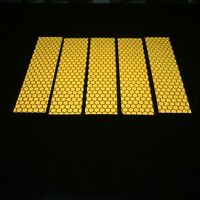 5 Pieces of Golden High Intensity Reflective Tape Self-Adhesive 25mm×100mm×5