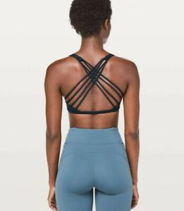 🍋 LULULEMON Free To Be Wild Sports Bra Strappy Teal Size: 6