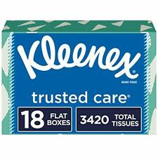 Kleenex Trusted Care Facial Tissues 18 Rectangular Boxes 190 Tissues per Box ...