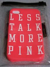 Victoria's Secret PINK  Iphone Cell phone Case Soft Less Talk More Pink NEW 5
