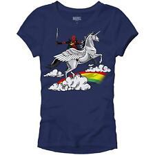 Dead Pool X-Men Unicorn Glory Graphic Womens Juniors Slim Fit Graphic Tee TShirt